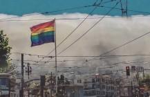 #gay #pride #castropride #sfpride #pride2015 #sfpride2015 #rainbowflag #fog #marketstreet #twinpeaks #sutrotower #pixelstud