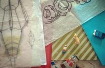 Passing through the ephemera, in the soon to be open studio! Nov 6th – 7th #art #painting #mixedmedia #lego #artforsale #artist #designer #castro #sf #sanfrancisco #bayarea #SFOS #sfos2015 #sfos40 #artspan #pixelstud