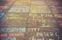 Energy on the #castrosidewalk #harveymilkcivilrightsacademy school children chalk memorial #worldaidsday #castro #sanfrancisco