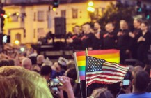Vigil for #Orlando #pride #endgunviolence #gaylatino #gaymuslim #gaymenschorus #castrostreet #sanfrancisco #bayarea