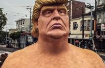 #emperorhasnoballs #sanfrancisco #castrodistrict #janewarnerplaza #publicnudity #trump #trump2016 #dumptrump #imwithher #hillary2016